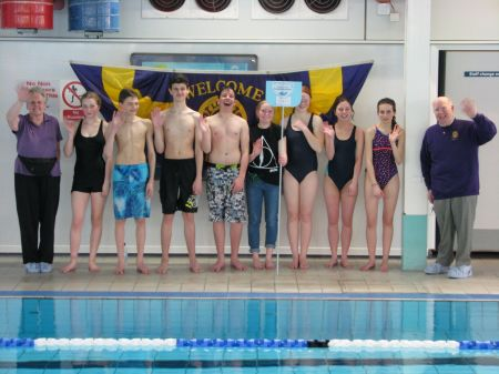 Amy Pugh's team of swimmers.